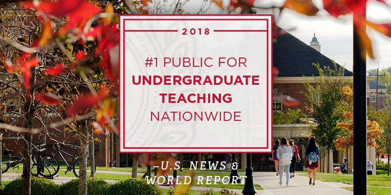 Miami is No. 1 public university in the nation for its commitment to undergraduate teaching.